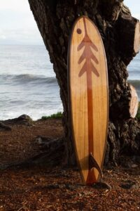longboard wooden surfboards