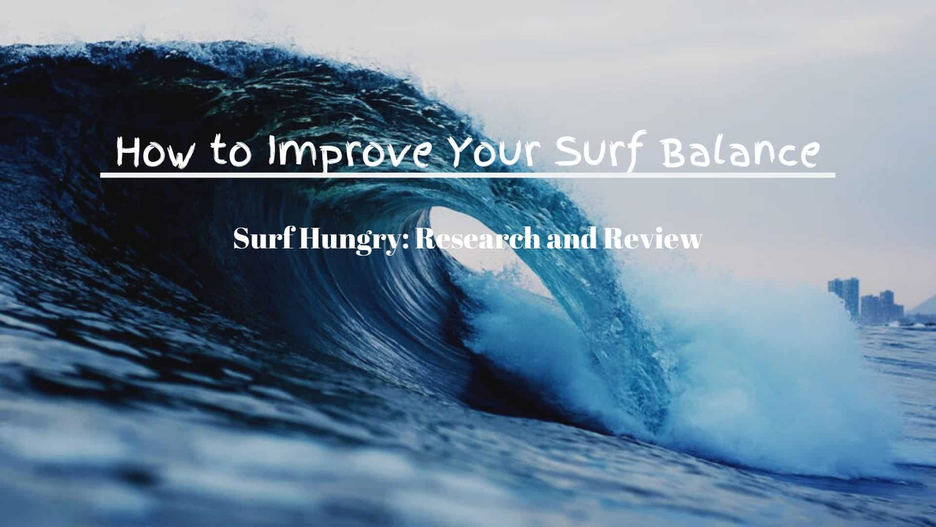 how to improve surf balance