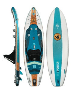 "PORTER 9'6"" INFLATABLE KAYAK/STAND UP PADDLE BOARD"