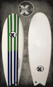 "Triple X 5' 10"" Spark Soft Top Fish Surfboard"