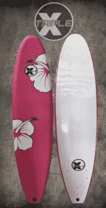 Triple X 7' Pink Hibiscus Soft Top Surfboard