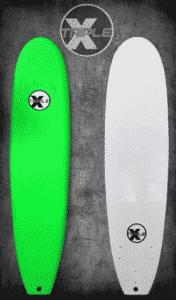 Triple X 7' Solid Green Soft Top Surfboard