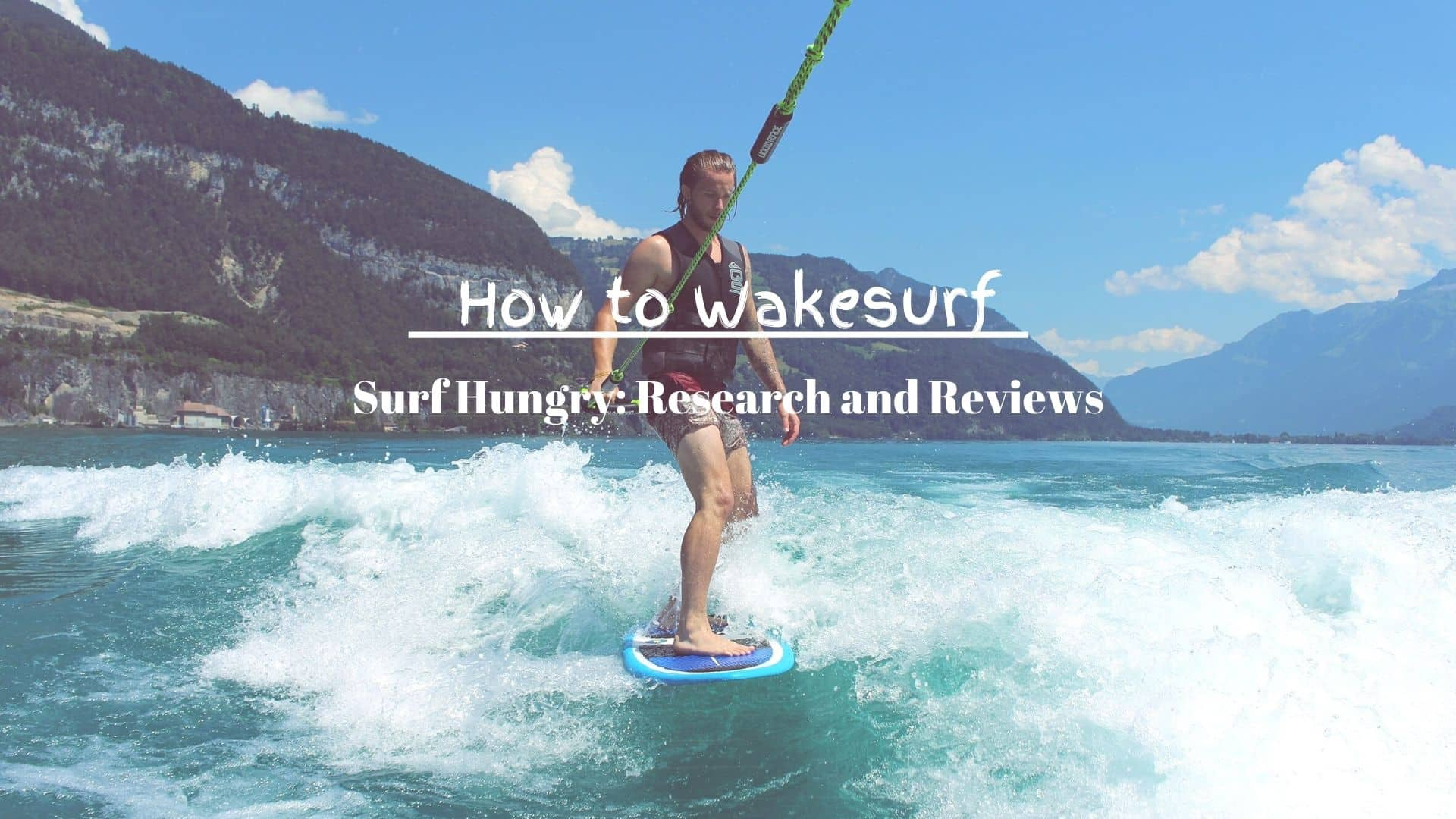 how to wakesurf