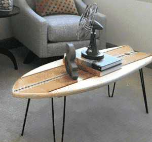 48 inch Retro Fish Surfboard Coffee Table from Etsy