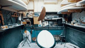 polishing surfboard