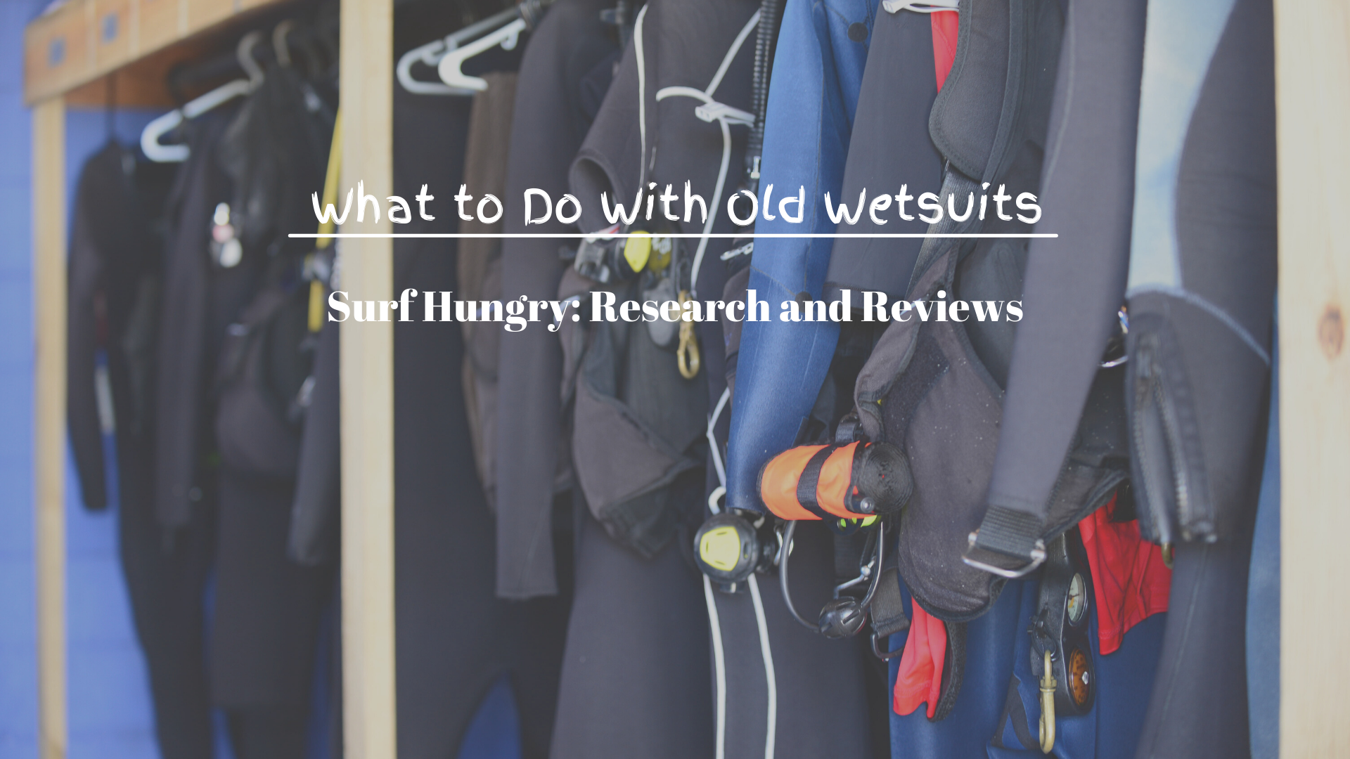 What to Do With Old Wetsuits